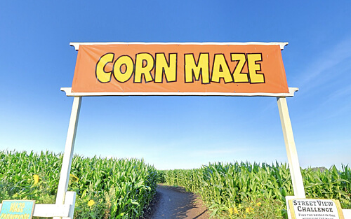 The Edmonton Corn Maze is the first corn maze in the world on Google Street View.