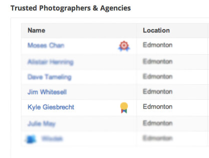 There's now an award winning badge attached to Giesbrecht's name on the official Google Business Photo site.