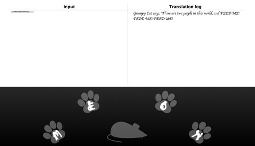 Google's Virtual Keyboard for cats!