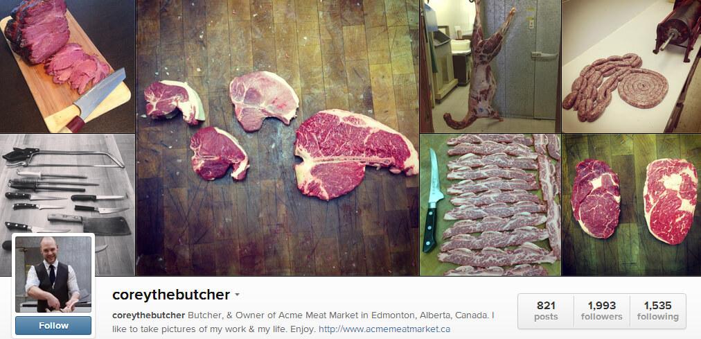 Edmonton Instagram - Corey the Butcher