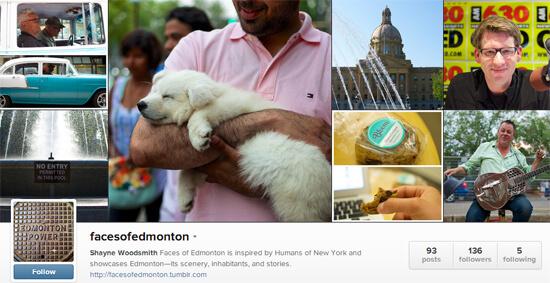 Edmonton Instagram - Faces of Edmonton Shayne Woodsmith