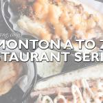 Edmonton A to Z Restaurant Series