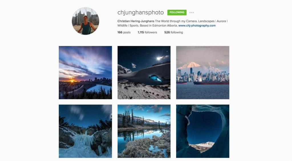 Top Edmonton Instagram Users - chjunghansphoto - Social Media