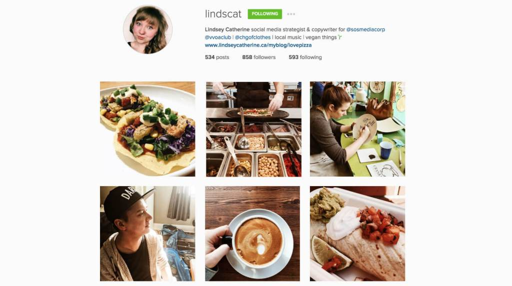 Top Edmonton Instagram Users - lindscat - Social Media