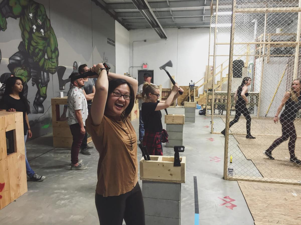 Recap + Giveaway: Throwing axes at Bad Axe Throwing