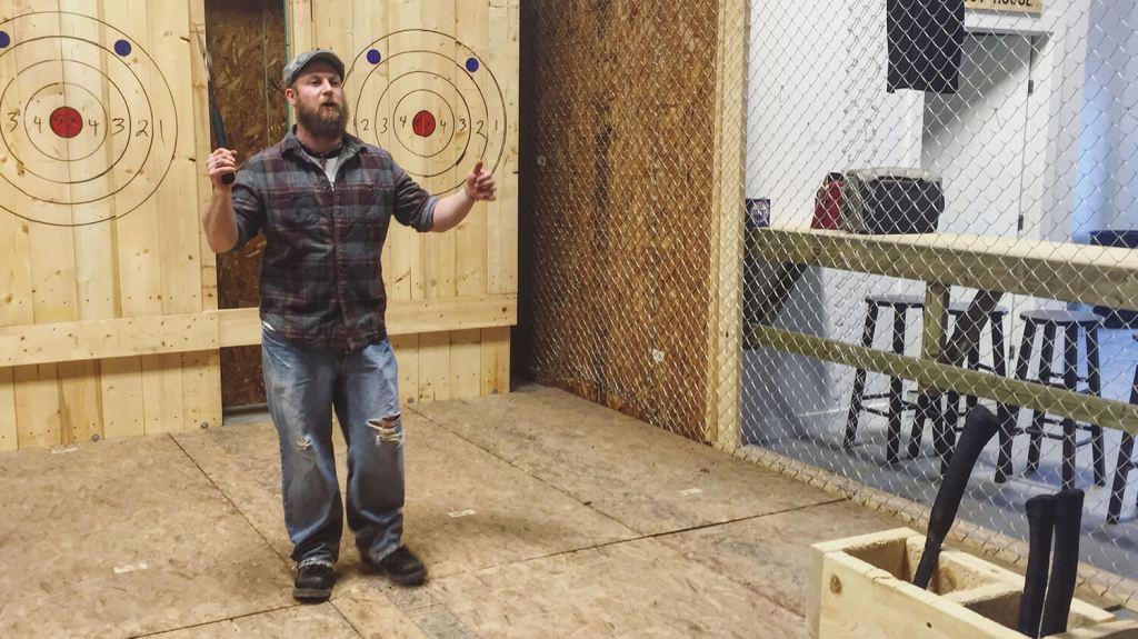 Bad Axe Throwing - Edmonton - Axe Throw
