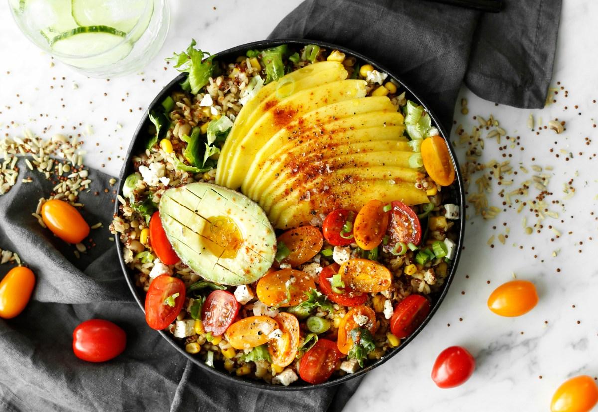 Ofur hrísgrjóna salatsskál