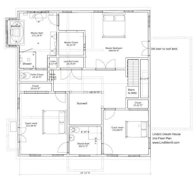 Linda 39 S Dream House 2nd Floor Plan And Master Bathroom