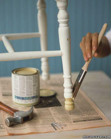maling av stol og bord ben