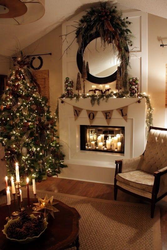 Julepyntet stue juletre
