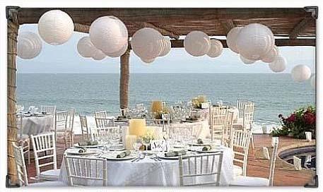 hvite lanterner i bryllup