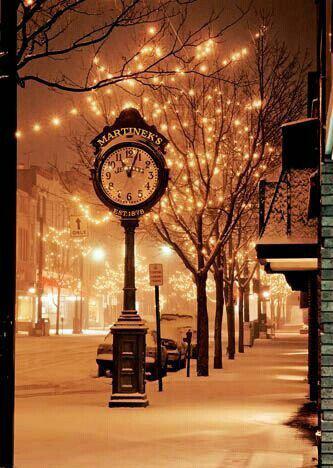 Julestemning kveld og snø
