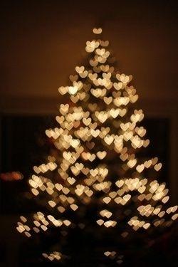 juletre hjertelys bilde
