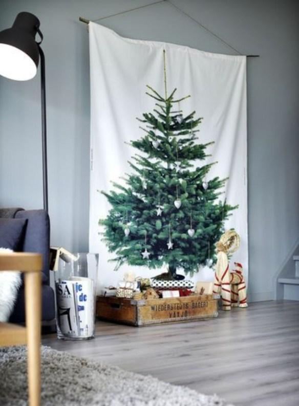juletre IKEA vegg tekstil Pinterest