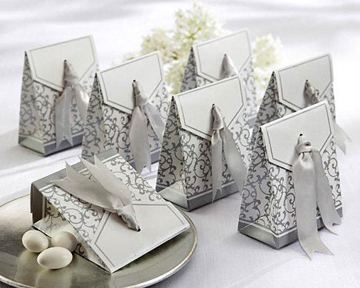Sølv pose i papp