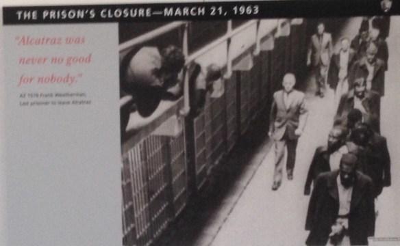 Alcatraz stenges ned