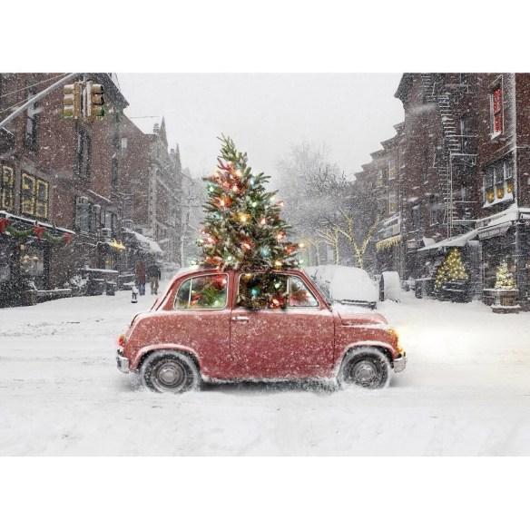 Bil med juletre