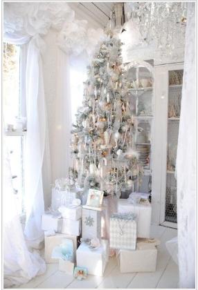 Hvit jul i hvitt rom