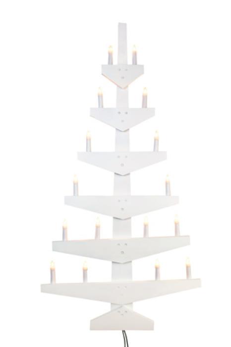 Hvitt juletre stort