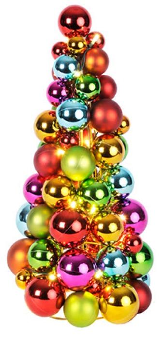 Juletre av julekuler produktbilde