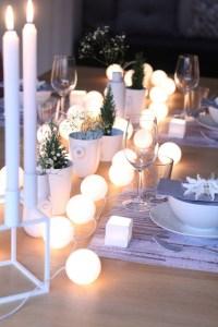 WOW Cottonlights hvite jul borddekking