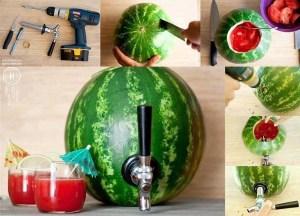 Vannmelon med tappekran