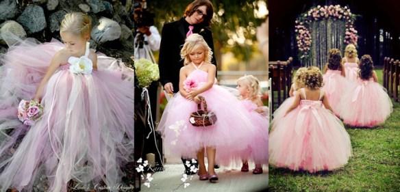 Brudepikekjoler i rosa samlebilde