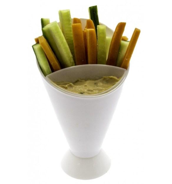 Serveringsskål fingermat grønnsaker og dip