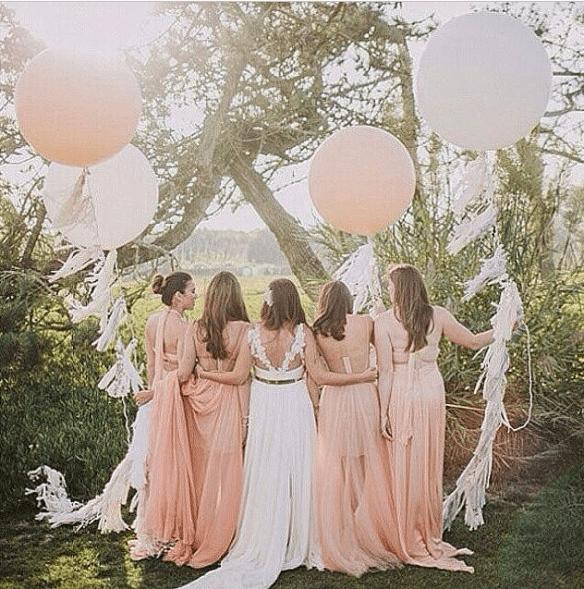 Store ballonger brudepiker