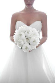 peoner brudebukett