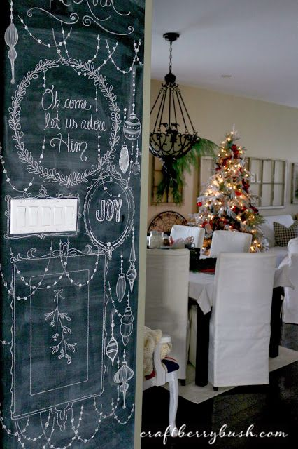 Juletegninger på tavle wallstickers