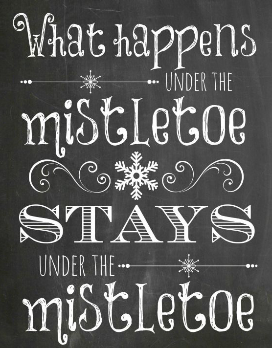 tavle wallstickers what happens under the mistletoe