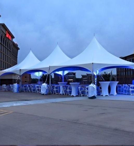 Coctail spandex stretch bordtrekk brukt utendørs på event