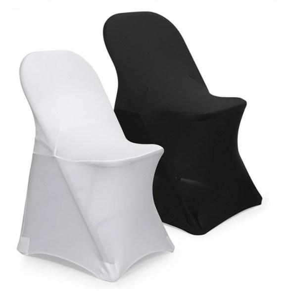 Stoltrekk til klappstol sort og hvit samlebilde