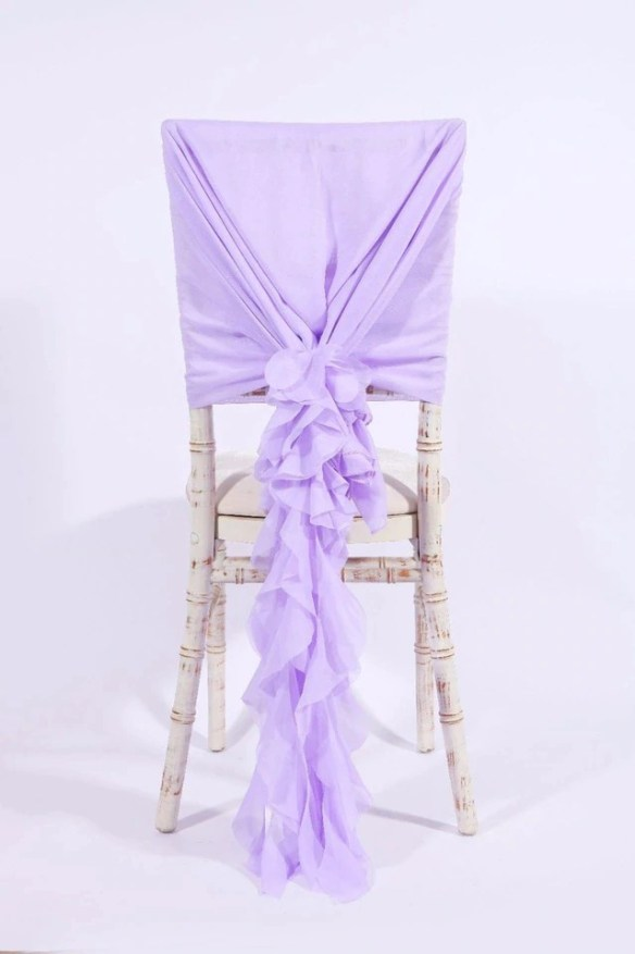 Stor dekorsløyfe til stol lys lilla