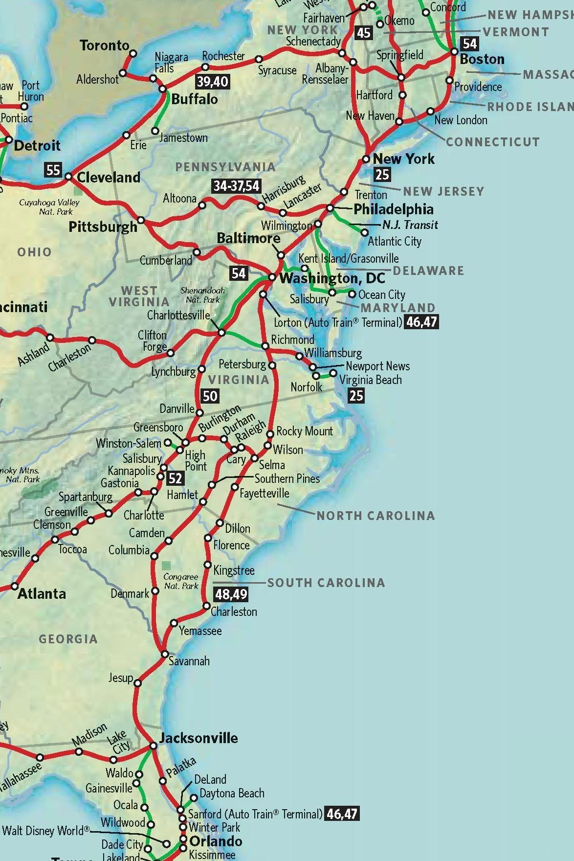 MAP OF EAST COAST Maps Map Cv Text Biography Template Letter - Map of east coast on usa