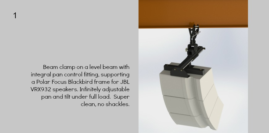 Polar Focus Blackbird frame for JBL VRX