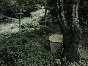森の中のゴミ箱