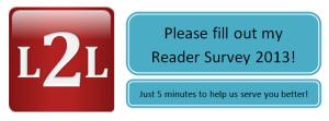 L2L Reader Survey 2013