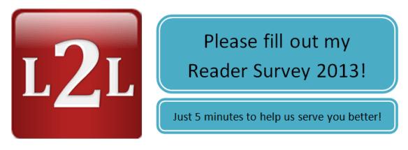 L2L Reader Survey 2013 banner