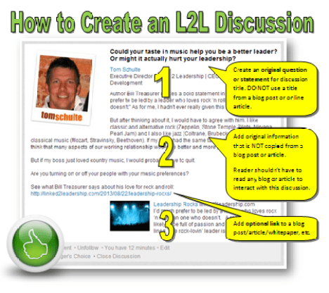 How to Create L2L Discussion