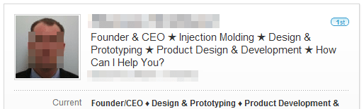 LinkedIn Headline Example