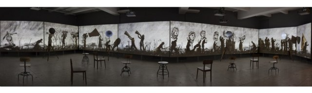 Installation view of More Sweetly Play the Dance