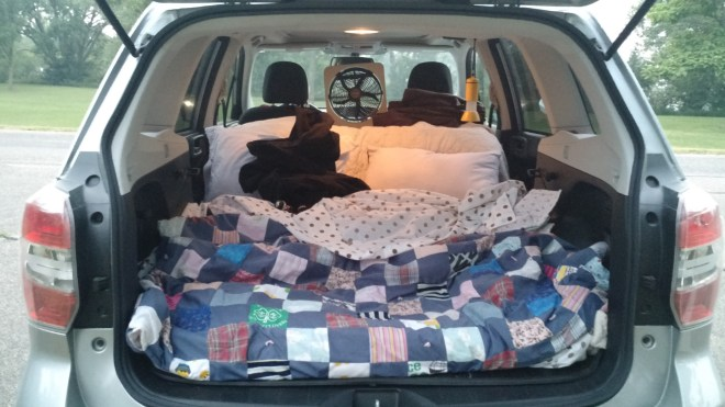 Car camping....not the most comfortable?