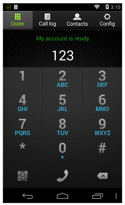 zoiper, cliente SIP para Android