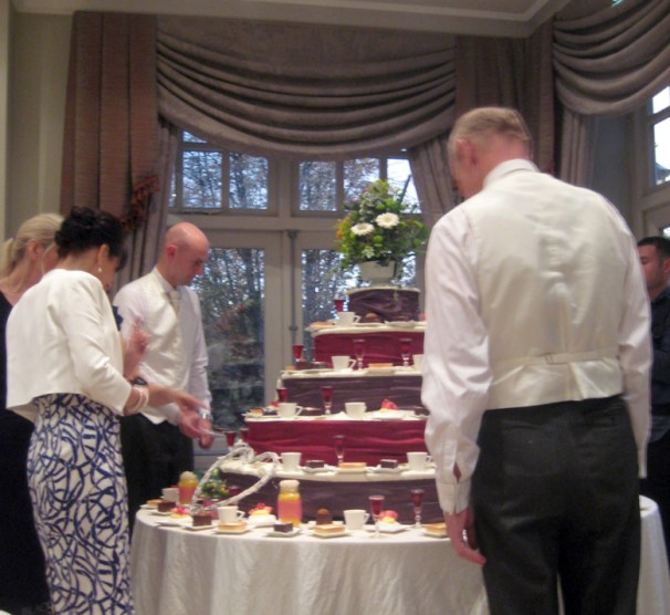 L&N's wedding dessert tower!
