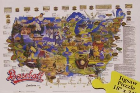 jigsaw puzzle sports baseball stars & stadiums 550 pc n | ebay