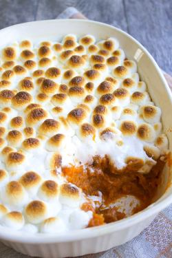 Small Of Yams With Marshmallows