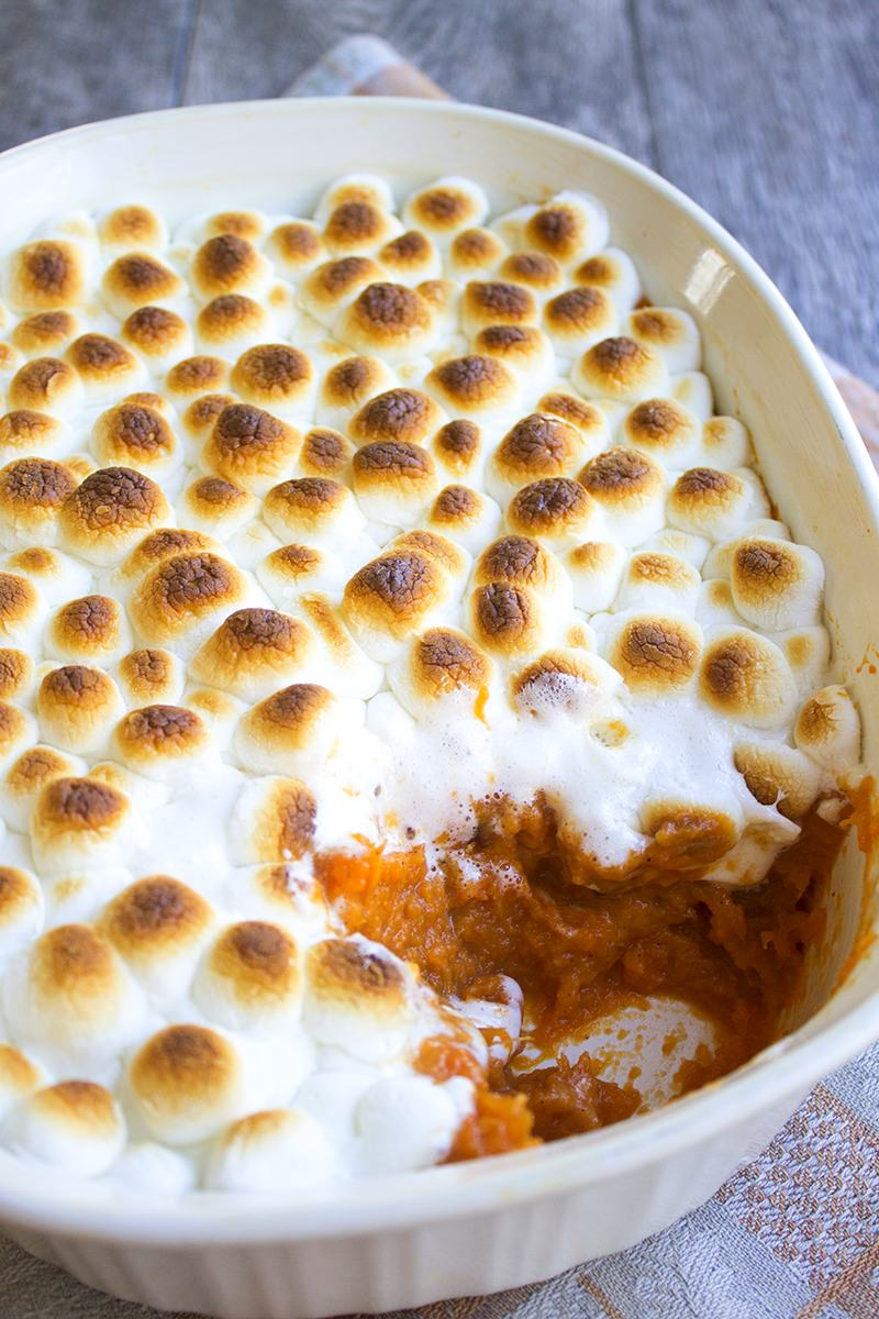 Large Of Yams With Marshmallows
