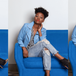 How To Slay In A Light Blue Moto Jacket
